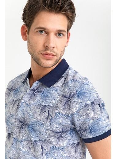 Avva Erkek  Polo Yaka Baskılı Tişört A01Y1117 Haki